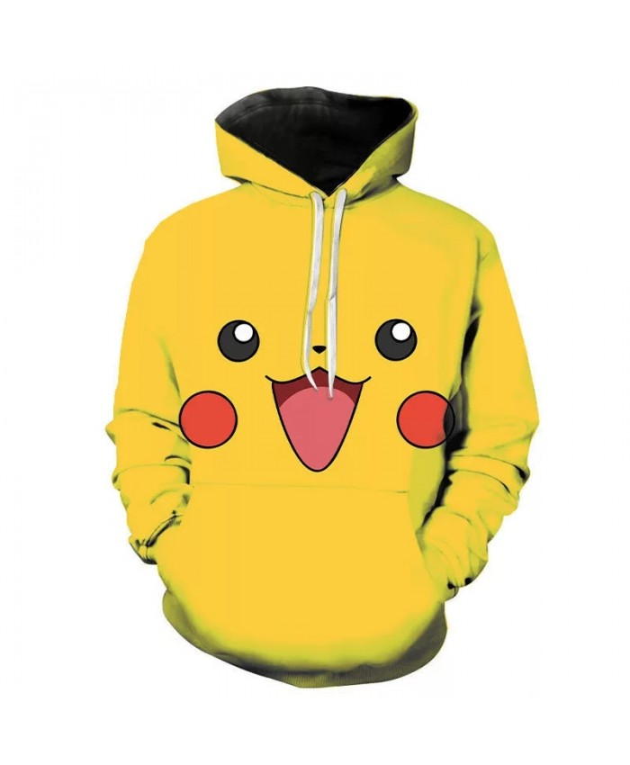 Spring And Autumn 3d Printing Men's And Women's Hoodies Comic Cartoon Pokemon Children's Street Clothing Cool Sweatshirt Coat