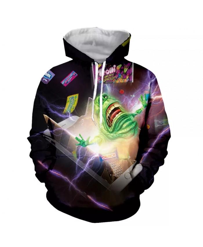 Ghostbusters Fashion Long Sleeves 3D Print  Hoodies Sweatshirts Jacket Men women