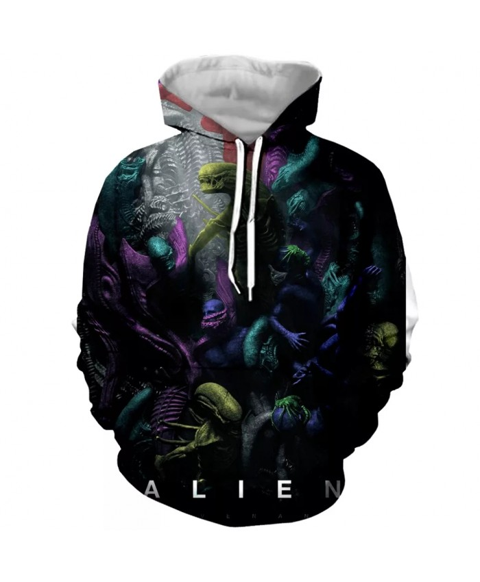 2021 New Decoding the Alien Covenant 3d Printed Hoodie For Women Men Sweatshirt outwear Tops