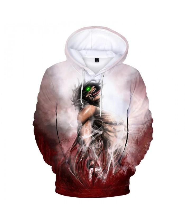Attack on Titan 3D Print Hoodie Sweatshirts Hot Anime Harajuku Streetwear Cartoon Hoodies Men Women Fashion Casual Cool Pullover