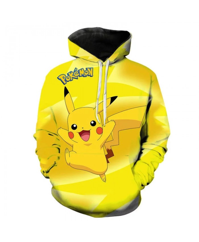New Streetwear Men Women Children Casual Sweatshirts Pokemon 3D Printed Cartoon Anime Men Women Unisex Hoodies Pullover Jacket