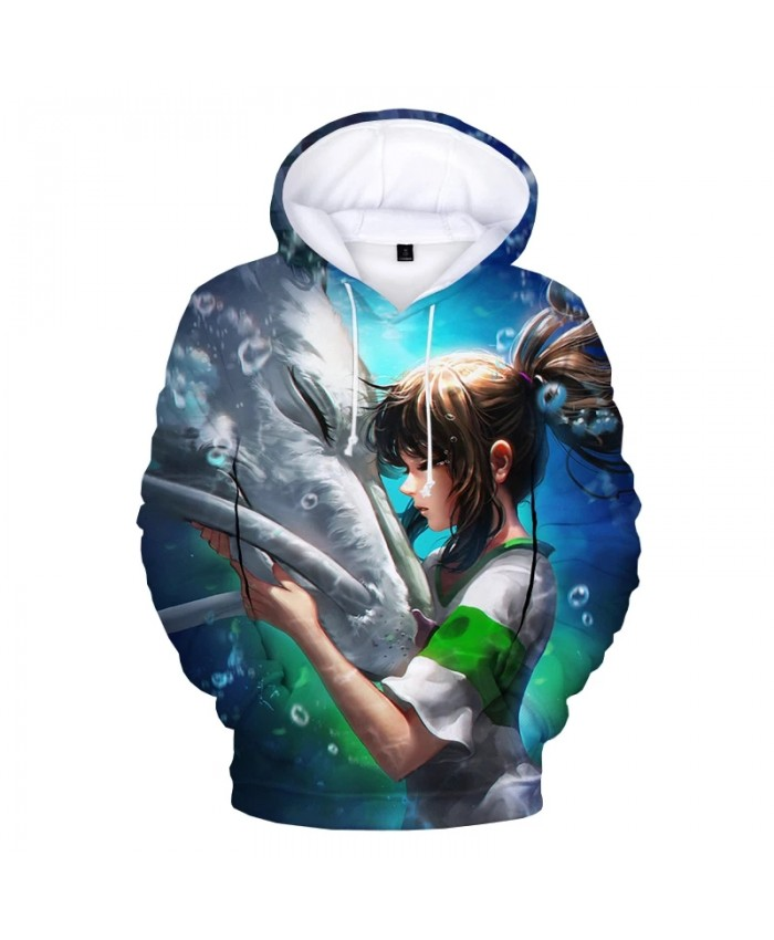 2021 Spirited Away 3D Print Hoodie Sweatshirts Men Women Fashion Casual Cool Pullover Harajuku Streetwear Cartoon Anime Hoodies