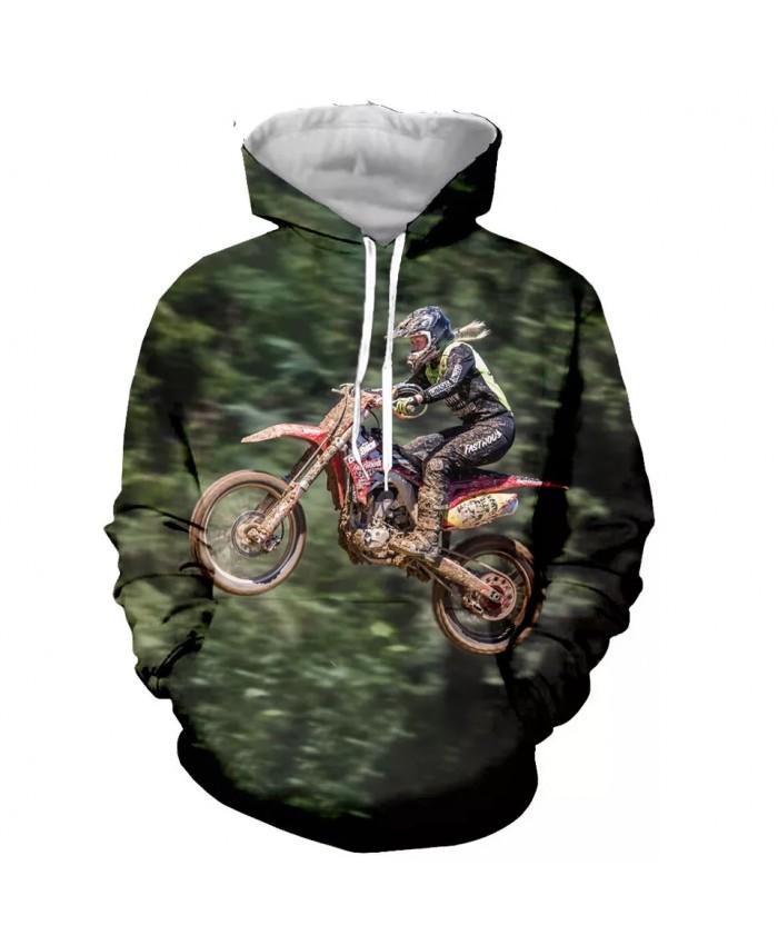 Motorcycle Motocross Fashion Long Sleeves 3D Print  Hoodies Sweatshirts Jacket Men women