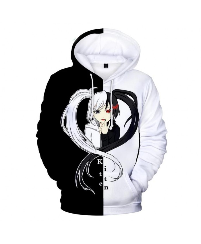 Popular monokuma 3D Hoodies Men Women Sweatshirts Hot Print monokuma Kids Hooded Casual boys girls white and black Pullovers