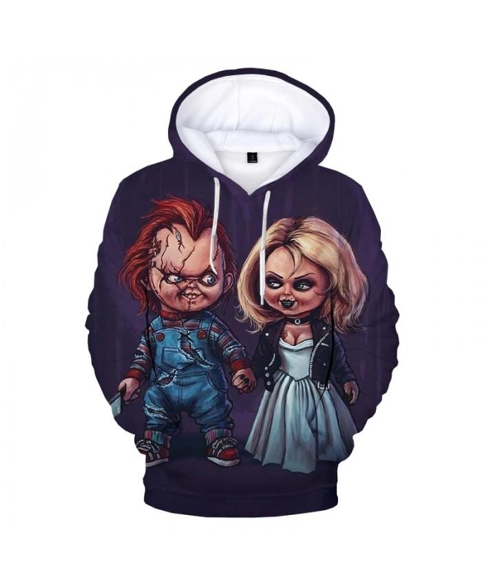 Bride of Chucky 3D Printed Hoodie Sweatshirts Men Women Fashion Casual Pullover Chucky Harajuku Streetwear Plus Size Hoodies