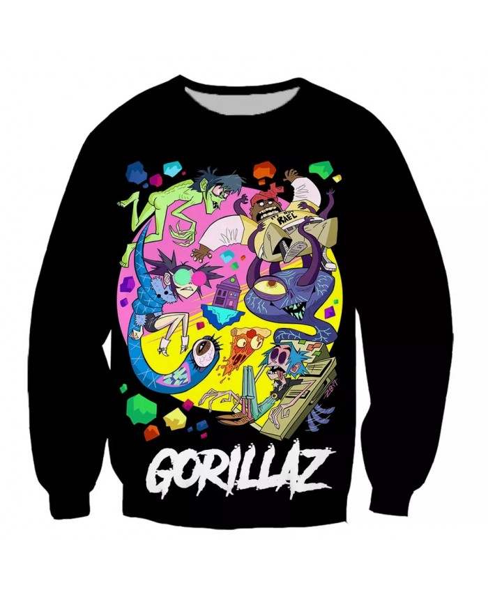 Gorillaz  3D print men women fashion cool Long Sleeves sweatshirt harajuku style street styles tops