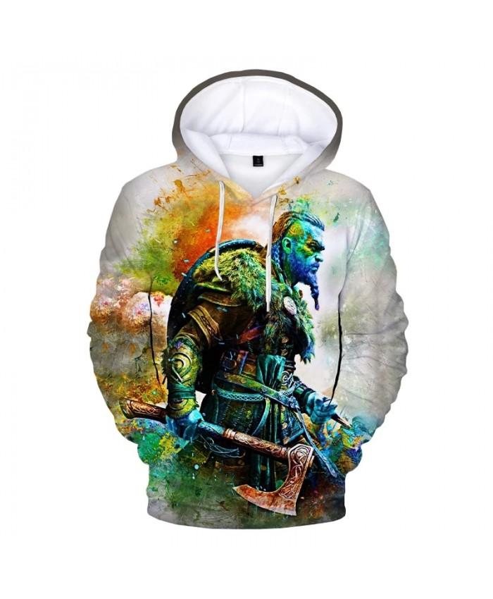 2021 Hot Game Assassins Creed Valhalla 3D Print Hoodie Sweatshirts Men Women Winter Fashion Casual Pullover Streetwear Hoodies