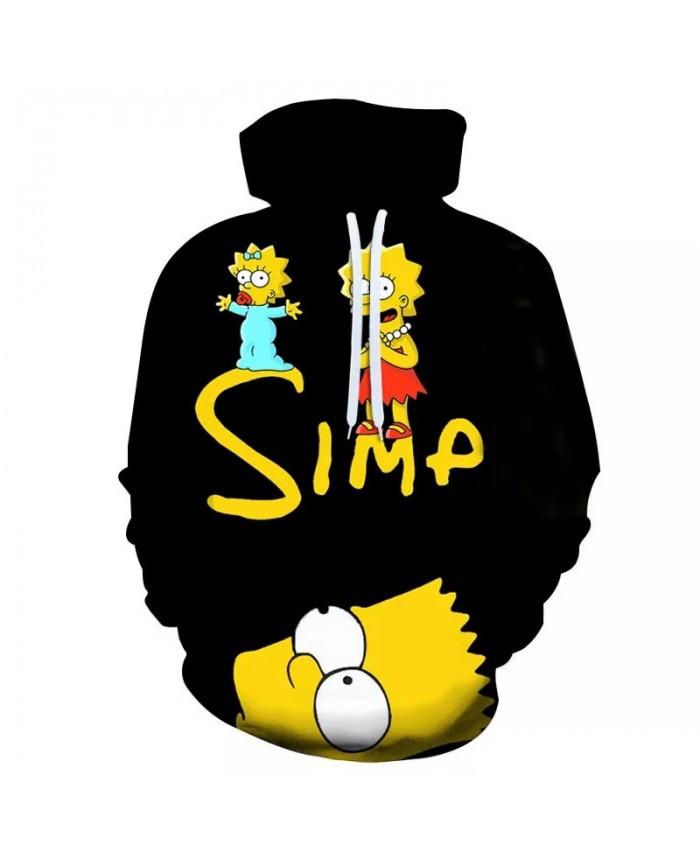 2021 Hot 3D Print Hoodie Homer Simpson Cartoon Casual Jacket Anime Hoodies Harajuku Hip Hop Cosplay Sweatshirt Streetwear