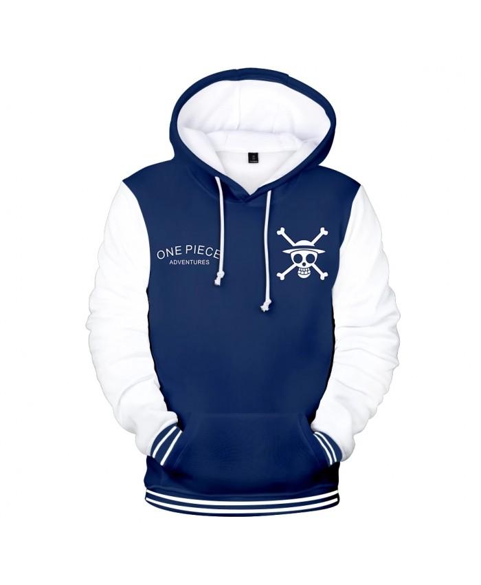 3D One Piece Hoodies Hoodie Men Sweatshirt Women Hooded Harajuku Kids pullovers Autumn Casual Anime boys white blue 3D Hoodies