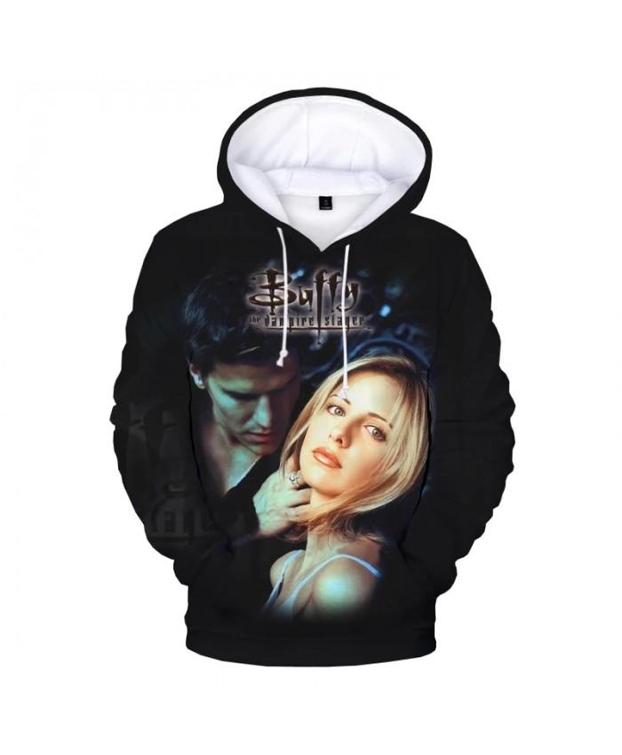 Buffy the Vampire Slayer 3D Print Hoodie Sweatshirts TV Series Harajuku Streetwear Hoodies Men Women Fashion Casual Pullover