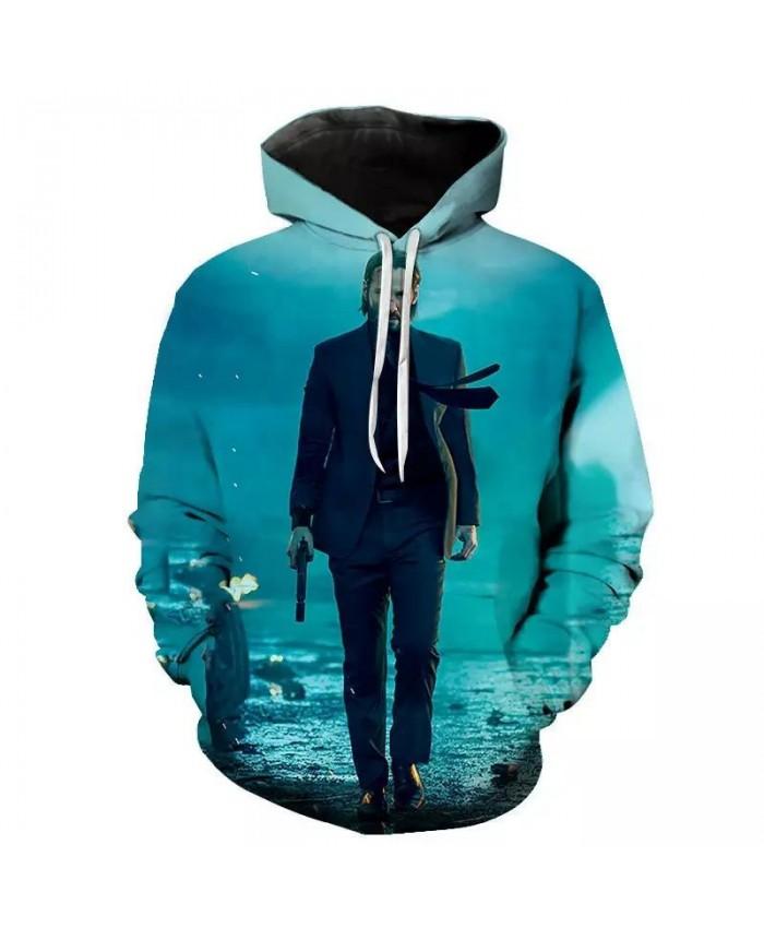 Hoodies Movie John Wick 3D Printed Men Women Children Casual New Sweatshirts Sport Fashion Streetwear Pullover Hoodie Tops Coat