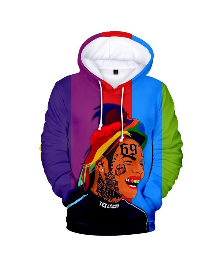 Suitable 6IX9INE 3D Hoodies Harajuku children Sweatshirts Men women Fashion 3D 6IX9INE Hooded Autumn boys girls Casual pullovers
