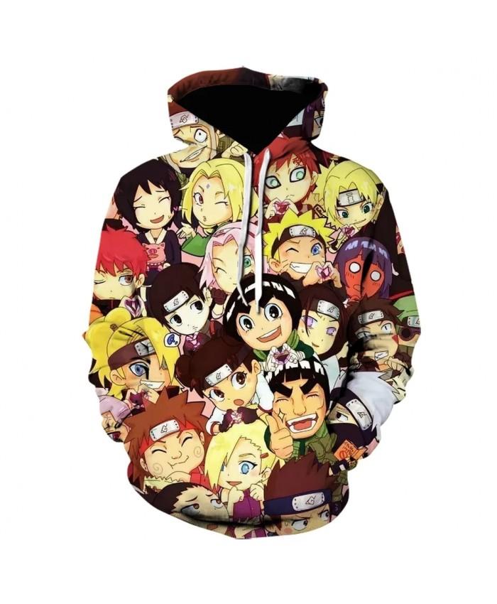 Anime Naruto Avatar Stitching Hoodies Streetwear 3D Print Cartoon Harajuku Gaara Uchiha Itachi Hoodies Long Sleeve Winter Jacket