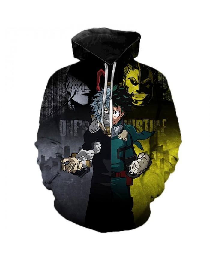Anime My Hero Academia Hoodie Cosplay Costume Sweatshirts 3D Printed Pullover Men Women Fashion Casual Hoodies