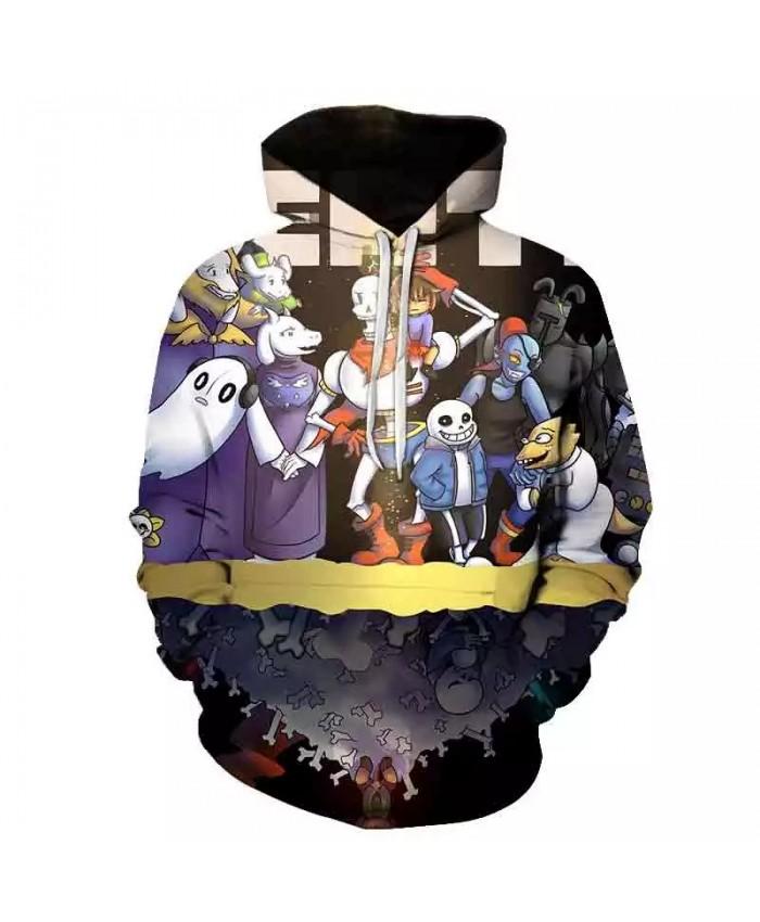 Anime game undertale hoodie unisex 3D printing streetwear hip hop punk hoodie men and women hoodie men sweatshirt