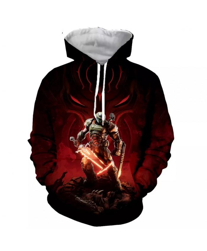 Doom Fashion Long Sleeves 3D Print Hoodies Sweatshirts Jacket Men women tops