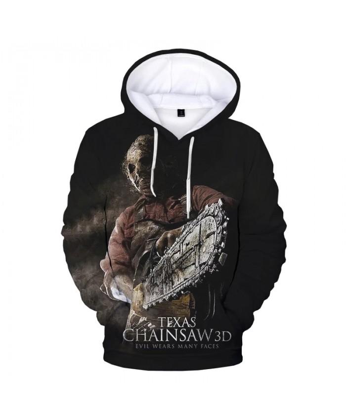 Texas Chainsaw Massacre 3D Print Hoodie Sweatshirts Horror Movie Harajuku Streetwear Hoodies Men Women Fashion Casual Pullover