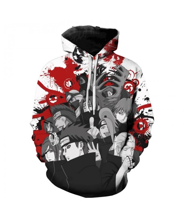 New Harajuku Sweatshirt Naruto Couple Wear Hoodies Unisex Casual Japanese Anime Printed Men's Hoodies Male Streetwear