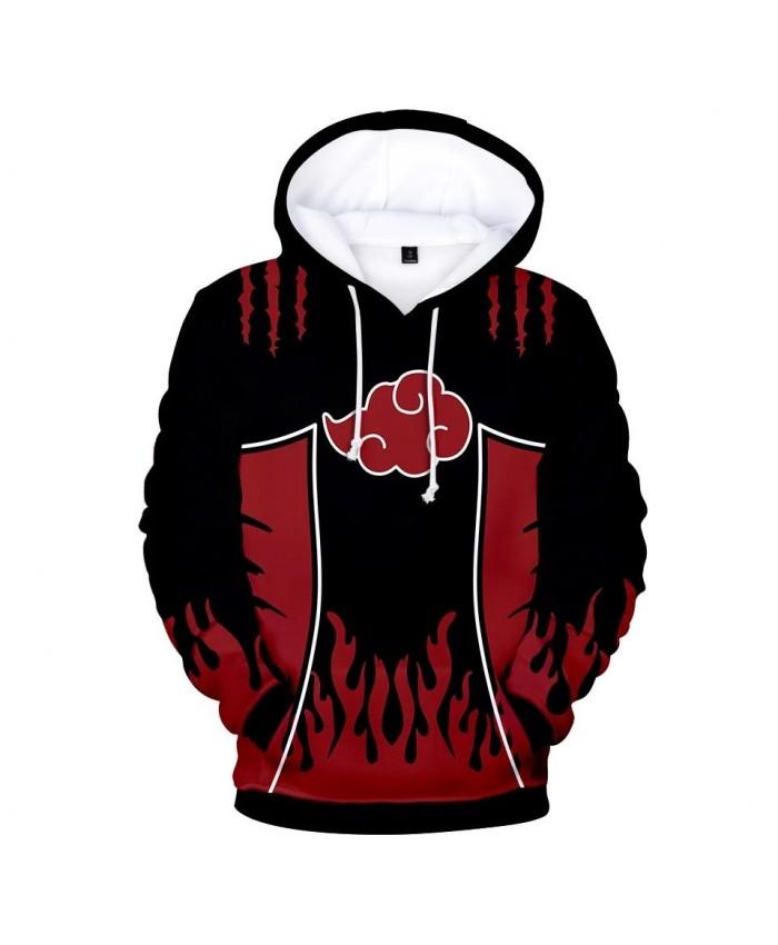 New Naruto Bkack and Red Hoodies Men Women Sweatshirts Hip Hop Kids Streewear 3D Print Anime Hoodie Naruto Suitable Pullovers