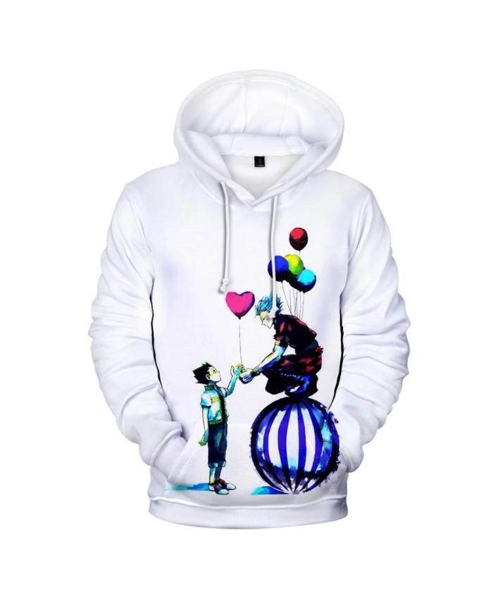 New 3D Comic Hisoka Hoodies Sweatshirts Men Women Hoodie Fashion Hip Hop Autumn Hooded Kids 3D Hisoka boys girls white pullovers