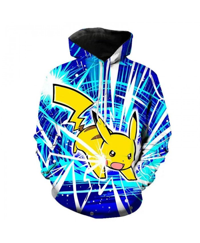 New Men's And Women's Hoodies 3d Printing Comic Cartoon Pokemon Children's Long-Sleeved Sweatshirt Street Hip-Hop Coat