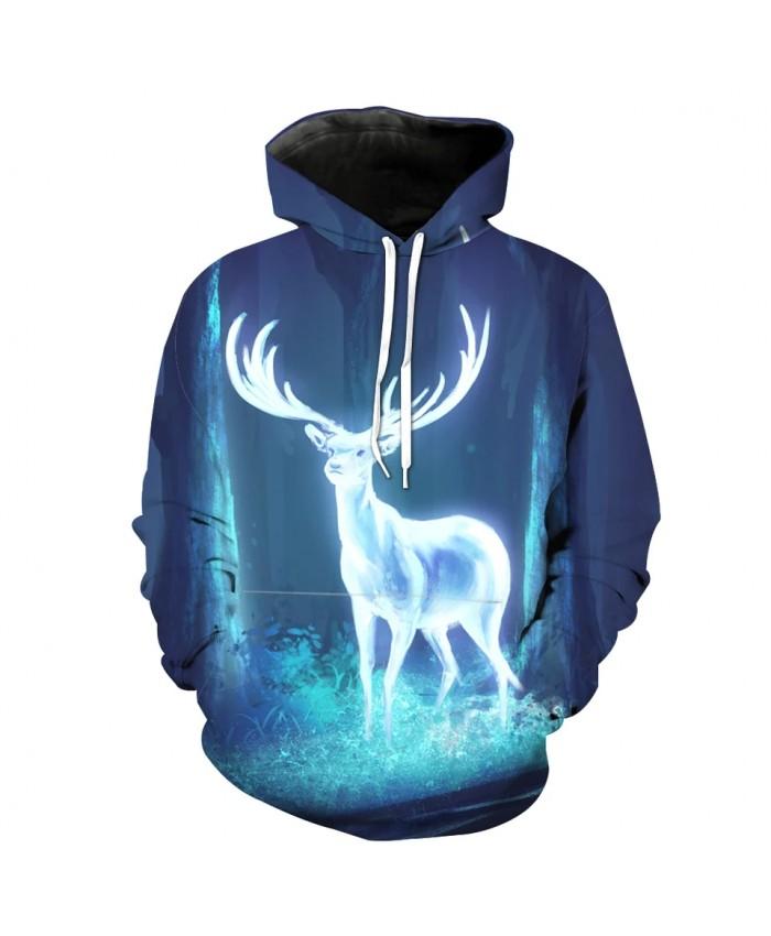 Fairytale Forest Fluorescent Deer Print Fashion 3D Sportswear