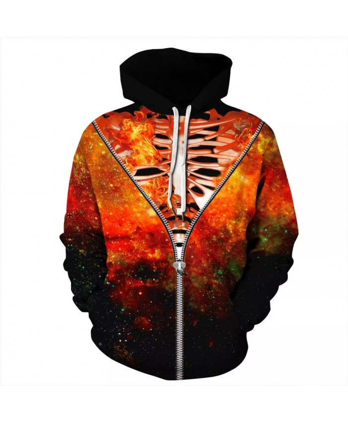 Newest Autumn Winter Hoodie Men Women 3D Brand Sweatshirt Print Skeleton Pocket Hoodies Fashion Streetwear