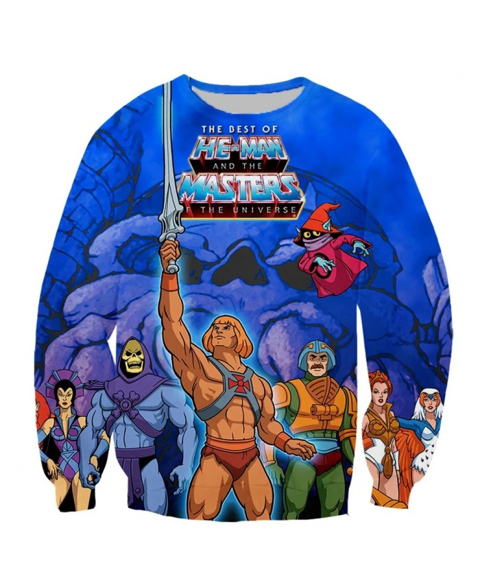 He man and The Masters of The Universe Fashion Long Sleeves 3D Print Hoodies Sweatshirts Jacket Men women