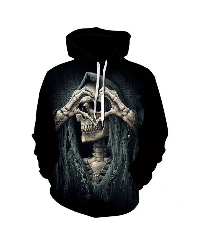 2021 new skull loves print hoodie sweatshirts spring and fall fashion men's and women's street wear hip-hop hoodies