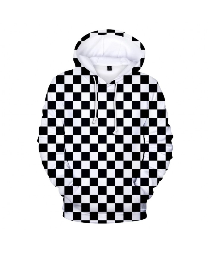 Hot Comic Ghost Blade 3D Hoodies Men Women print Black and white plaid Streetwear Autumn Sweatshirt 3D Demon Slayer Hooded
