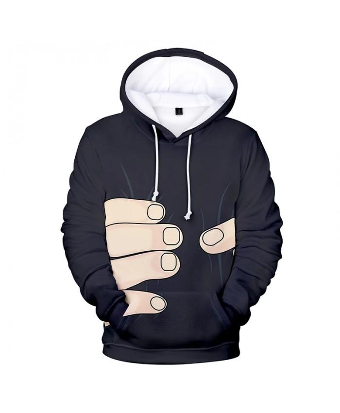 Kpop Big Finger 3d Hoodies Pullover Costume Streetwear 2021 Men Women Hoodie Hoody Tops Long Sleeve 3D Hooded Sweatshirt Casual