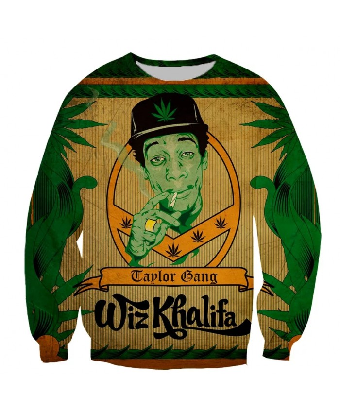 Wiz khalifa Fashion Long Sleeves 3D Print Hoodies Sweatshirts Jacket Men women