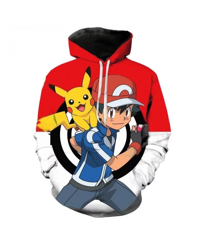 Animation 3D Printed Hoodies Men Women Children Fashion Hoodies Pokemon Boy Girl Kids Sweatshirts Streetwear Clothes Coat