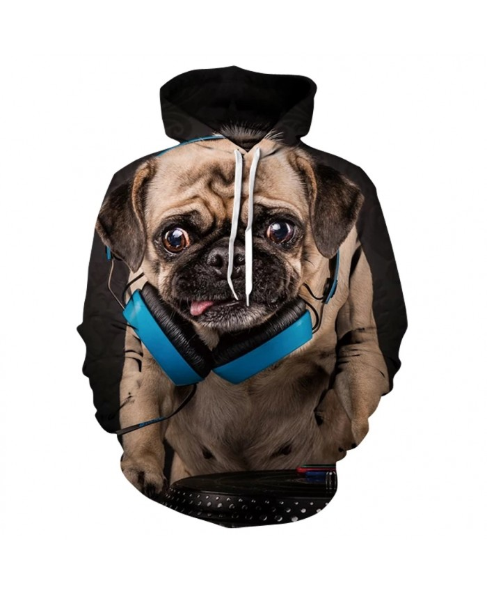 3D printed casual long sleeve hoodie fashion new design for men and women animal dog comfortable hoodies