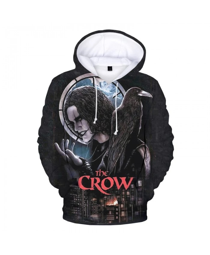 Horror Movie The Crow 3D Print Hoodie Sweatshirts Men Women Harajuku Streetwear Hip Hop Hoodies Autumn Fashion Casual Pullover
