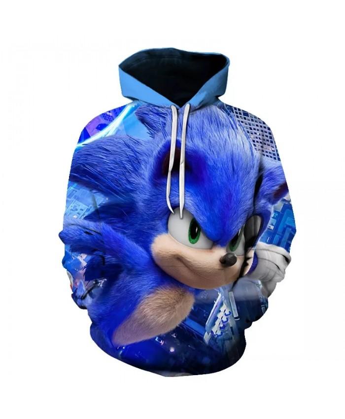 Sonic the hedgehog 3D Hoodie Coat Sweatshirts 3D Hoodies Pullovers Outerwear Hoodie boys girls Tracksuits Streetwear