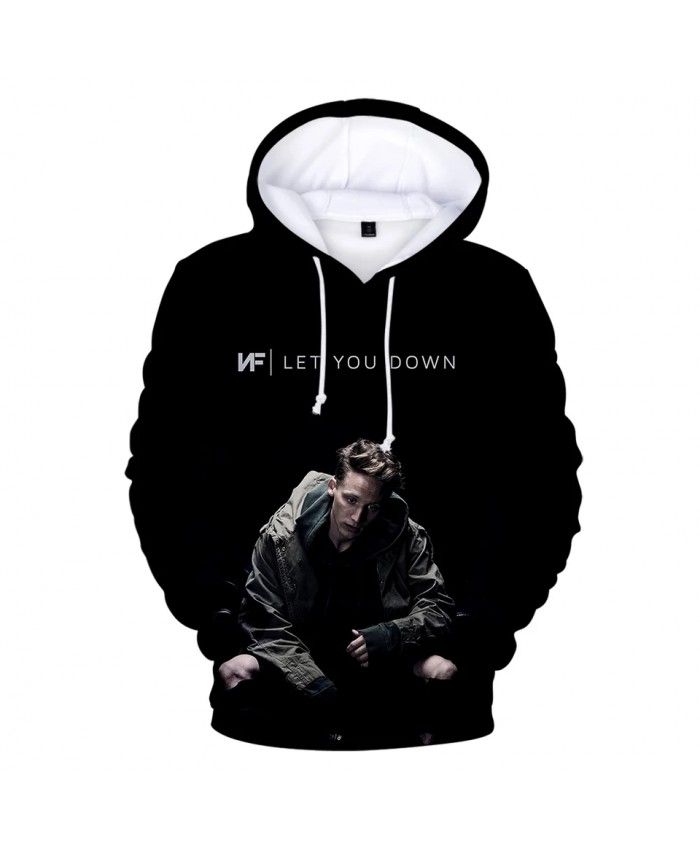 NF 3D Hoodies men women casual Sweatshirts Hooded Fashion pullovers Winter plus size Hoodies Casual NF 3D black Clothes Tops