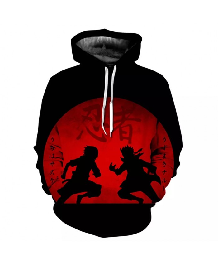 Spring And Autumn New Men's Women's Children's Hoodie Hip Hop 3d Printing Naruto Anime Street Cool Casual Fashion Tops