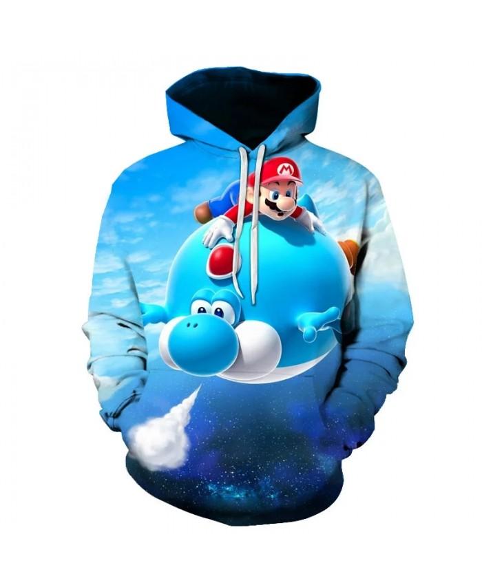 Mens Mario Friends 3D Printed Hoody Pullover Man's Streetwear Harajuku Hooded Cartoon Hoodies and Sweatshirts S 6XL Drop ship