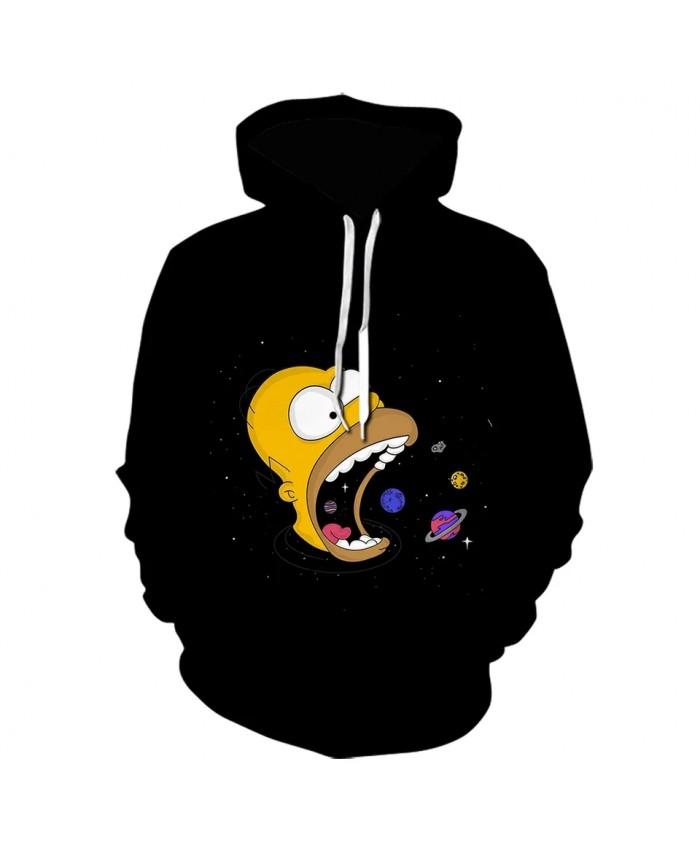 3d Print The Simpsons Hoodie Black Brand Design HoodedPullover Fashion Style Sweatshirt High Quality  Hoodies Streatwear 2021