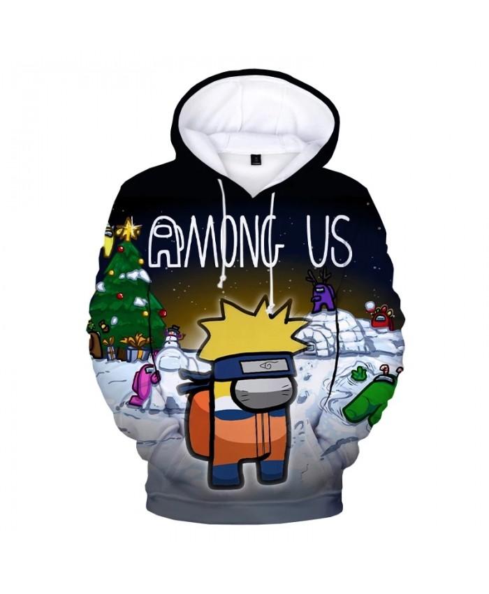 Among Us Naruto 3D Print Hooded Sweatshirts Boys Girls Fashion Casual Hip Hop Pullover Unisex Harajuku Streetwear Anime Hoodies