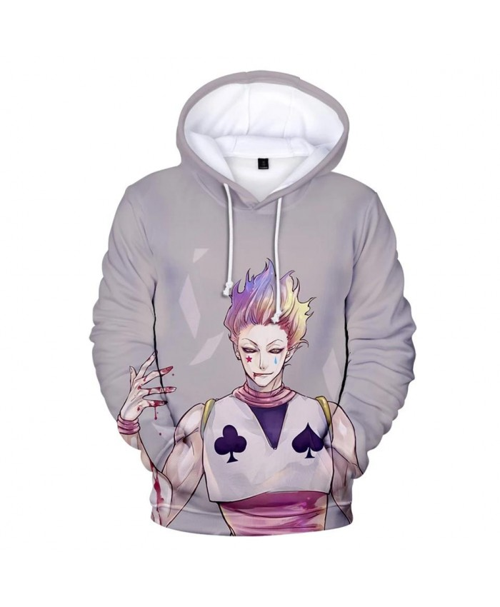 Autumn 3D Hisoka Hoodies Sweatshirts Men Women Hoodie Fashion Hip Hop Hooded Kids 3D print Comic Hisoka boys girls gray pullover
