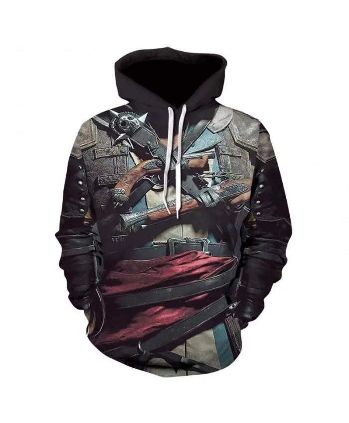 2021 Autumn And Winter 3d Printing Fake Cowboy Skull Hoodie Men Casual Hoodie 3d Sweatshirt Printing Jacket Skull Hoodie