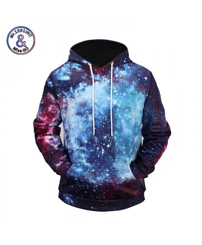 New Galaxy 3D Print Hoodies Fashion Sweatshirt With Pocket Moleton Masculino Brand Hip Hop Hoody Pullover