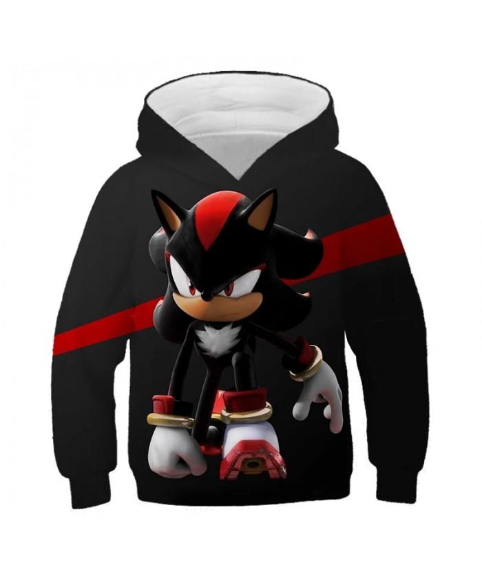 Sonic The Hedgehog 3D Kids Hoodies For Girls Sonic Children's Sweatshirt For Boys Girls Sweat Shirt Child Boy Hoodies Clothes 14