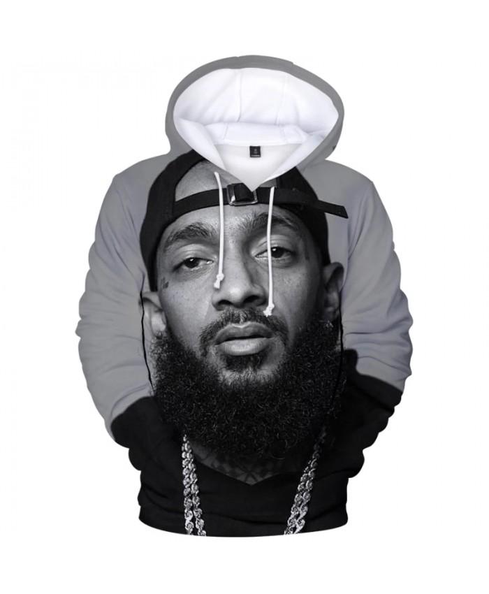 3D Printed Hoodie Nipsey Hussle Hoodies Men Streetwear Hip Hop Oversized Teens Tops Hoodie Harajuku Sweatshirts Male Clothing