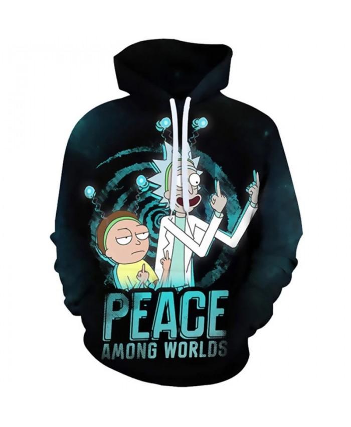 2021 New Design Rick Print Mens Hoodies 3d Print Funny Hoodie Man Fashion Autumn Hip hop Casual Hoodie Male Sweatshirt Coat