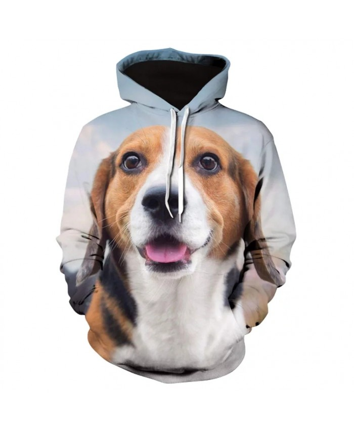 Spring and autumn 2021 men's and women's casual long-sleeved hoodie new design men's animal dog hoodie series