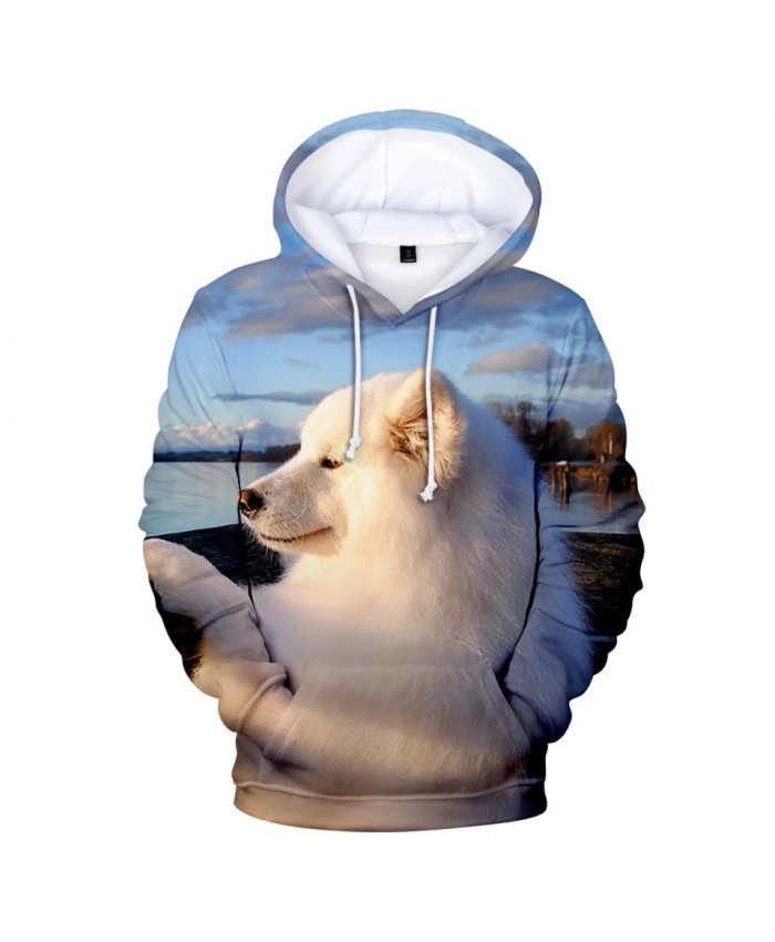 2021 Samoyed Hoodies 3D Print Sweatshirts Hot Sale Harajuku Long Sleeve Clothes Hooded Plus Size Samoyed Hoodies For Women