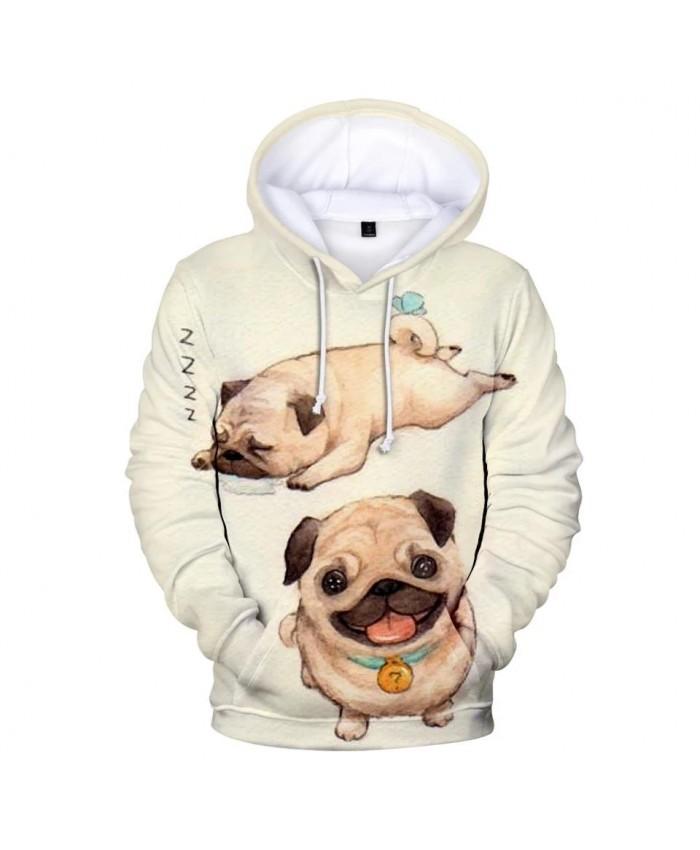 New Print Pug 3D Hoodies Men Women Sweatshirts Harajuku Kids Hoodie pullovers Hot 3D Pug Hooded Autumn boys girls streetwear